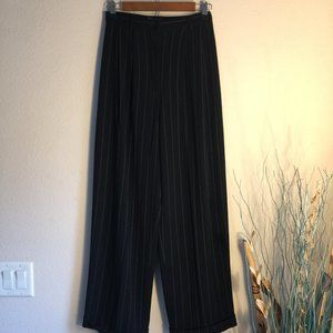 Vintage Super High Waist pleat wide leg cuff 8
